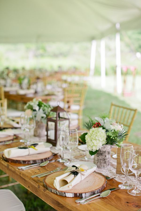 New York Farm Wedding Wedding table settings Rustic