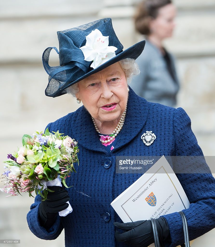 Queen Elizabeth II attends a Service of Thanksgiving to mark the 70th…