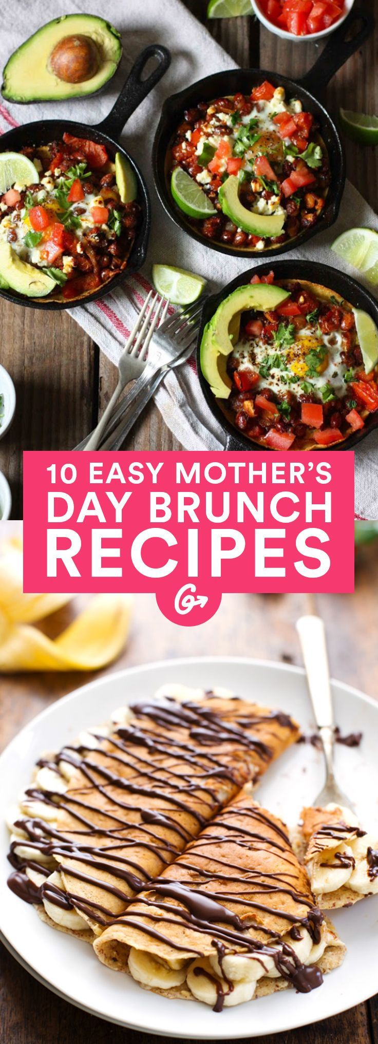 10 Easy Brunch Recipes To Make For Mothers Day Pinterest Easy