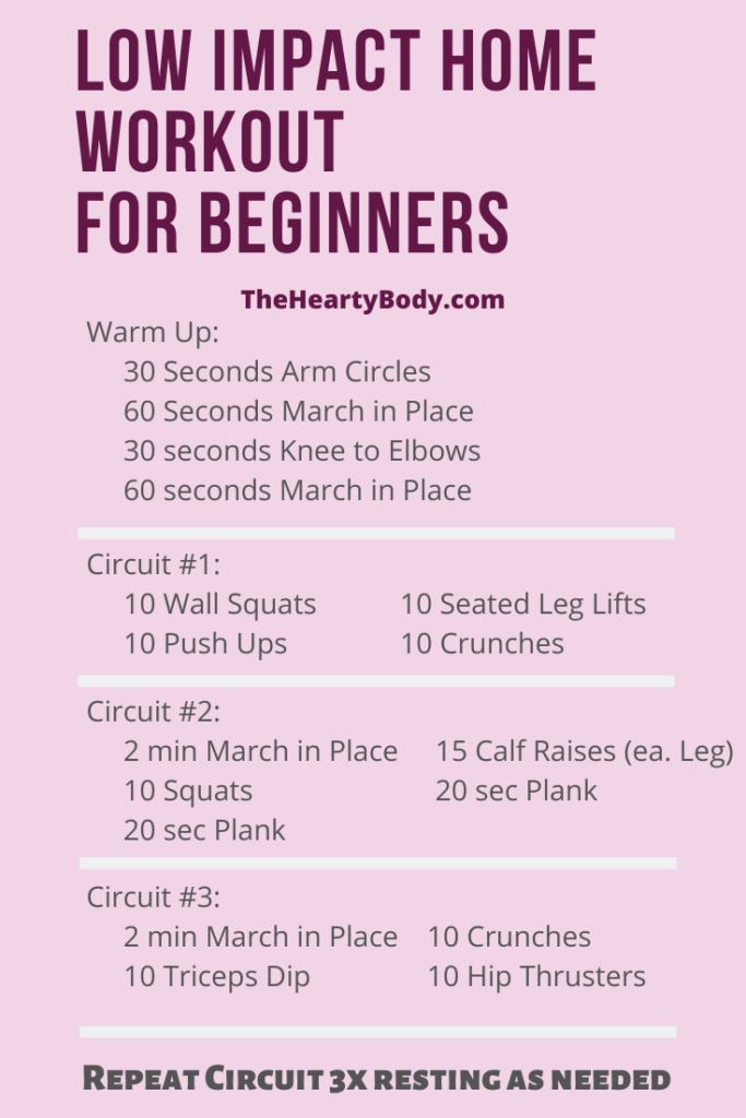 Beginner Home Workouts No Equipment Needed In 2020 Beginner Workout At Home At Home Workouts Hiit Workout At Home