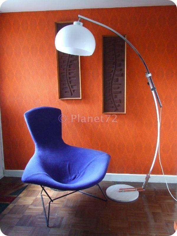 Retro Vtg 60s 70s Italian Space Age Arc Floor Lamp Marble Chrome Perspex Ebay Dining Room