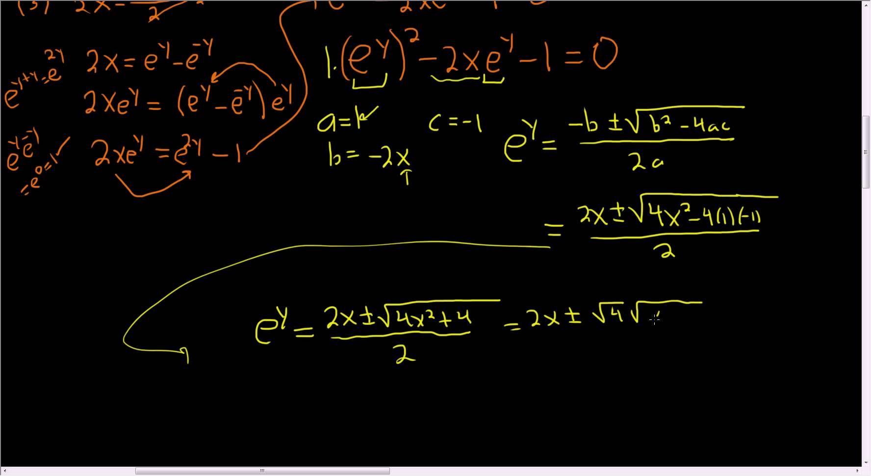 Derivation Of Arcsinh X The Inverse Hyperbolic Sine