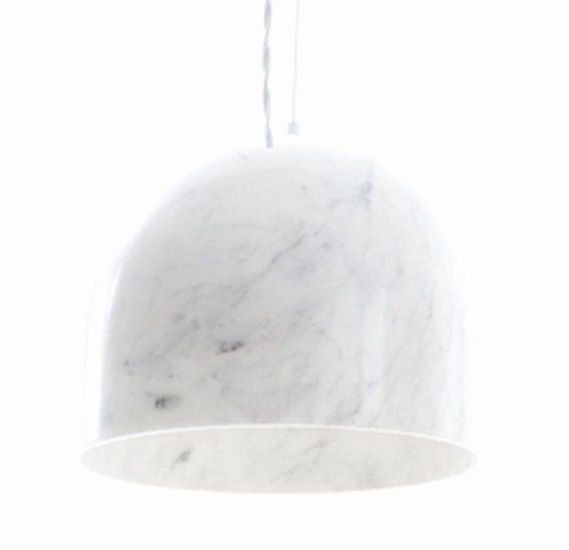 // marble pendant lamp by Benjamin Hubert