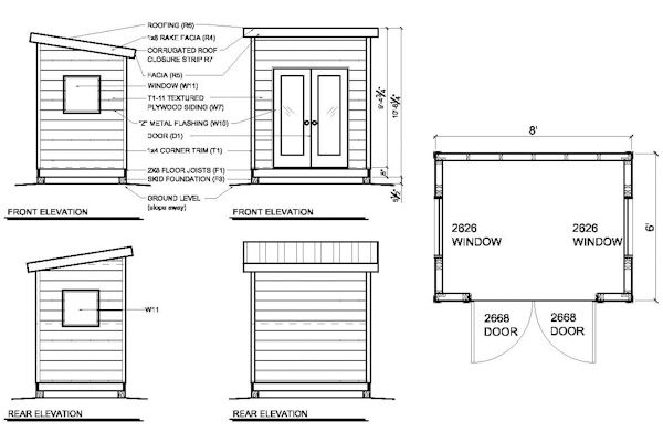 Superbe Our 6x8 Office Shed Plans Are Designed To Build A Modern Shed That Can Be  Used