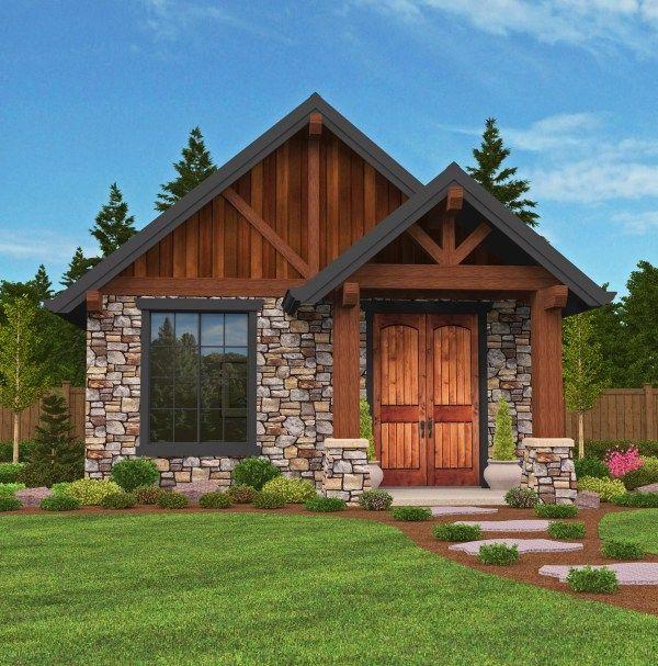 M 640 Lodge House Plan Modern Lodge Small Log Homes House Design