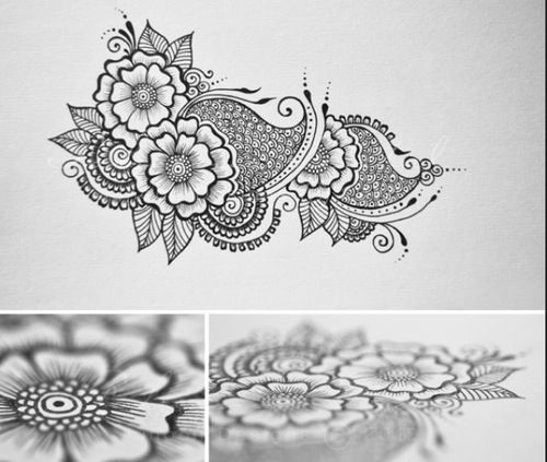 Henna design, simple but detailed. The secret of henna designs ...
