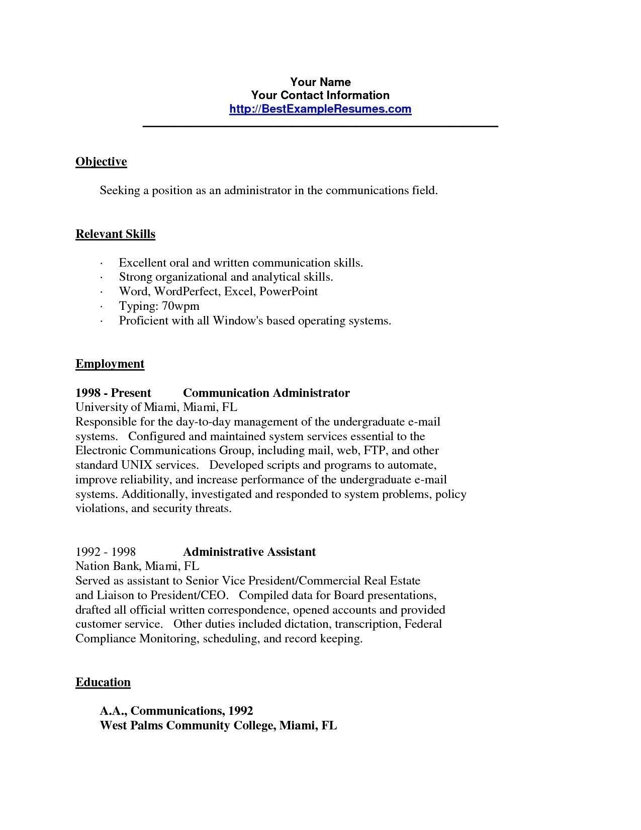 Communication Example For Resume In 2021 Resume Skills Job Resume Examples Communication Skills