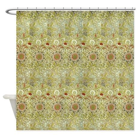 Corncockle Design By William Morris Shower Curtain By