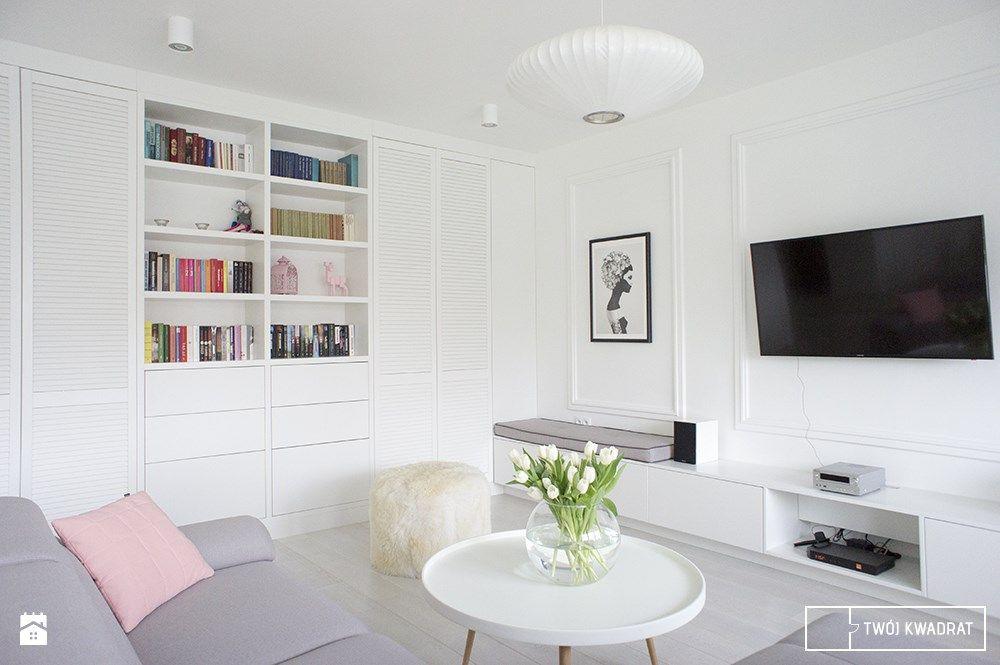 Romantyczny Salon Ze Sztukateria White Interior Interior Design