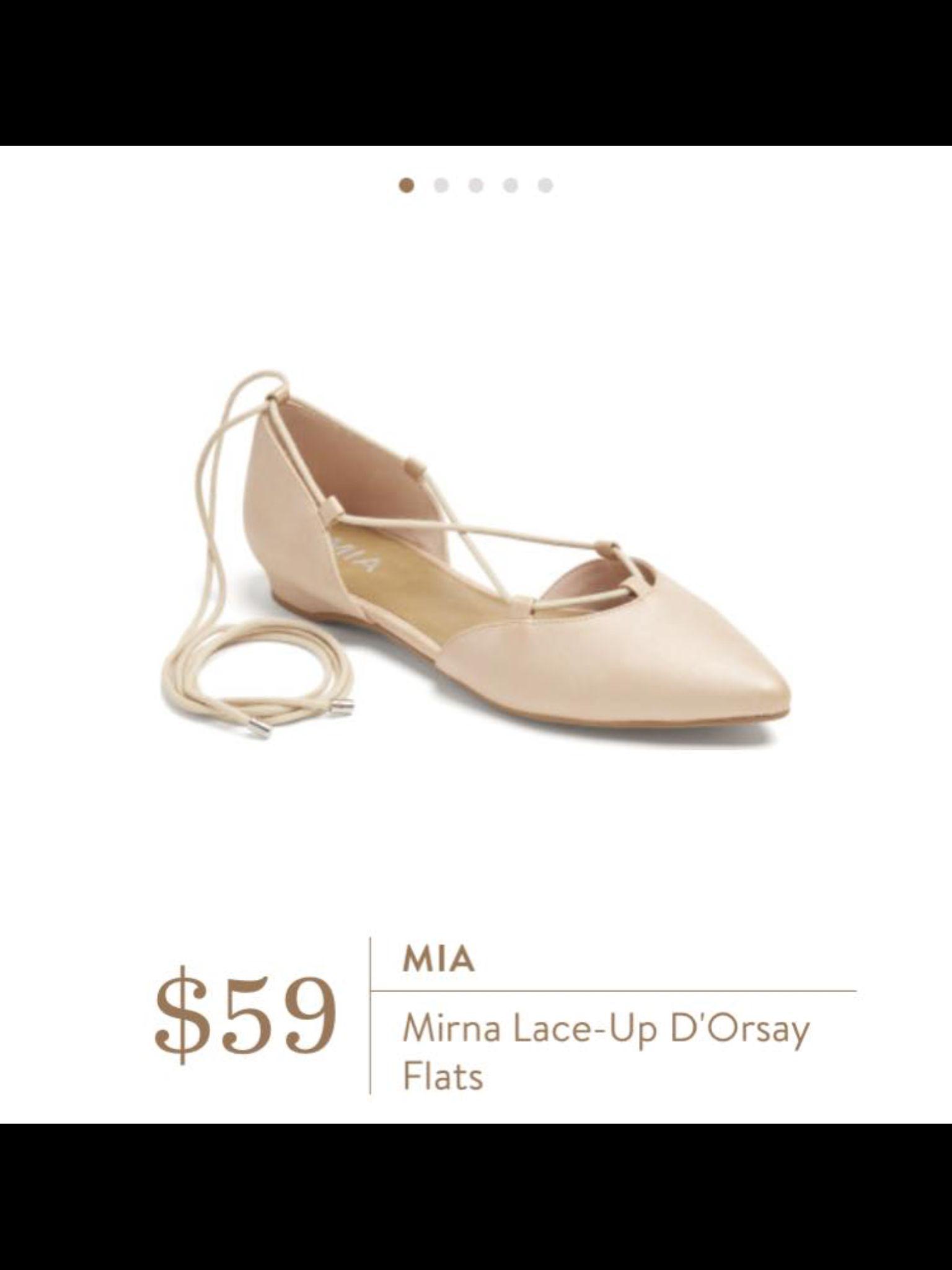 Mia Mirna Lace-Up D'Orsay Flats