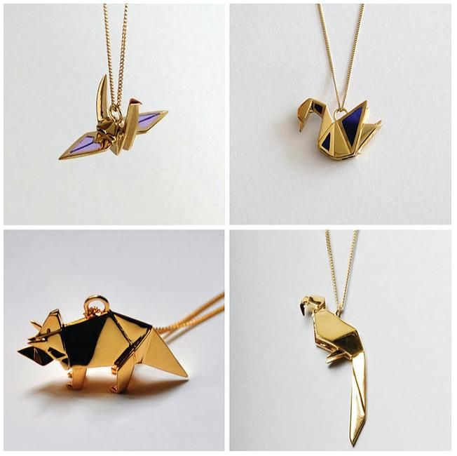 Origami Necklace What To Wear Pinterest Origami Necklace