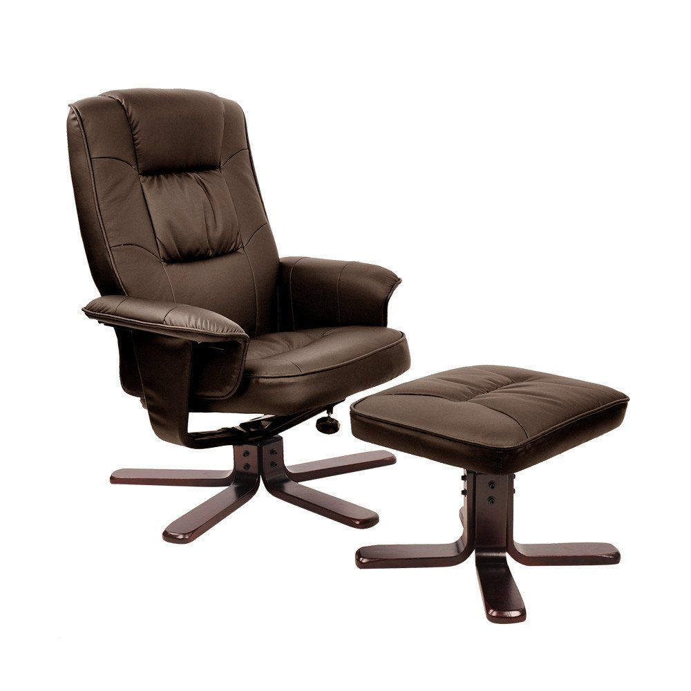 office recliners. PU Leather Lounge Office Recliner Chair Ottoman Chocolate Recliners F