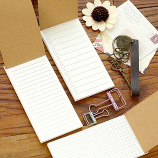 Brown Kraft Memo Pad Stationery Kawaii Cute Paper Note Planner - blank memo