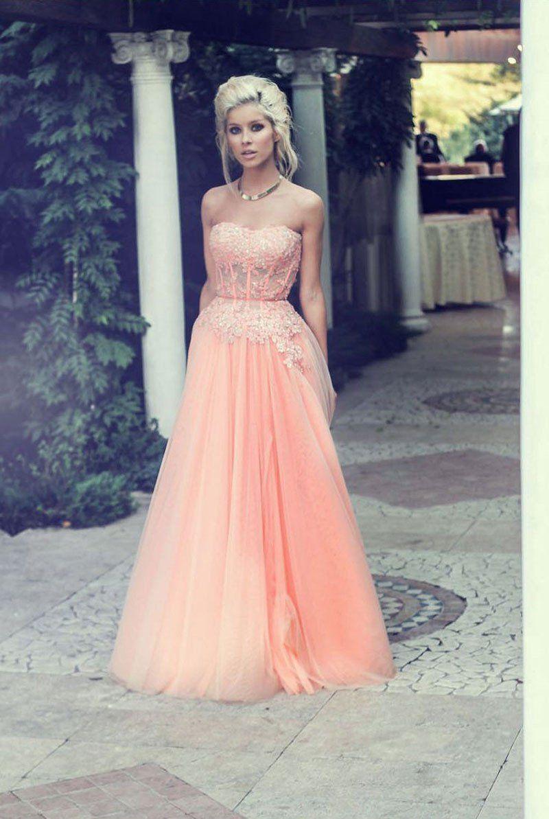 Custom made comfortable prom dresses lace aline prom dresses prom
