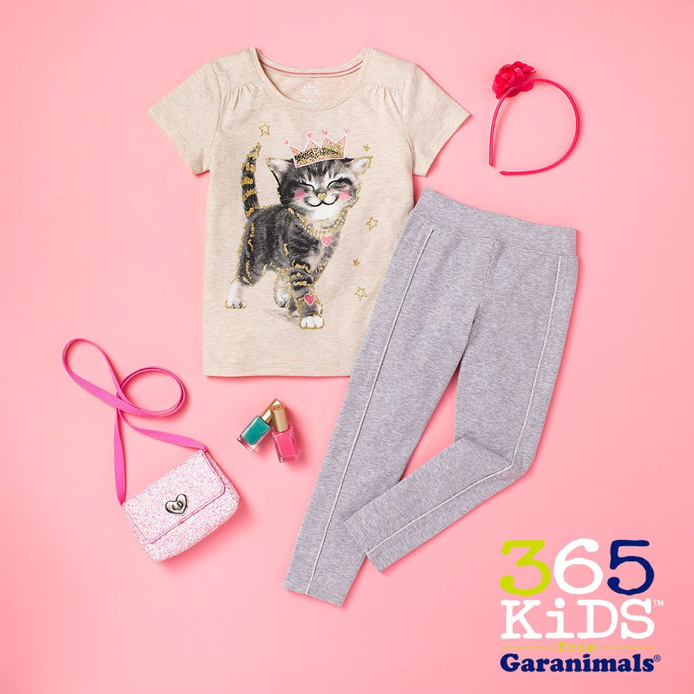 b7f669fe5a00d4 Girls graphic tees and piped leggings are available right 'meow' at  Walmart.com!