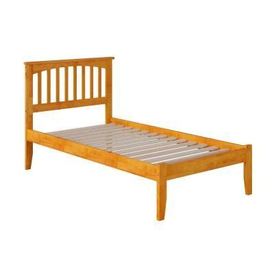 Atlantic Furniture Mission Caramel Twin Xl Platform Bed With Open Foot Atlantic Furniture Twin Platform Bed Furniture