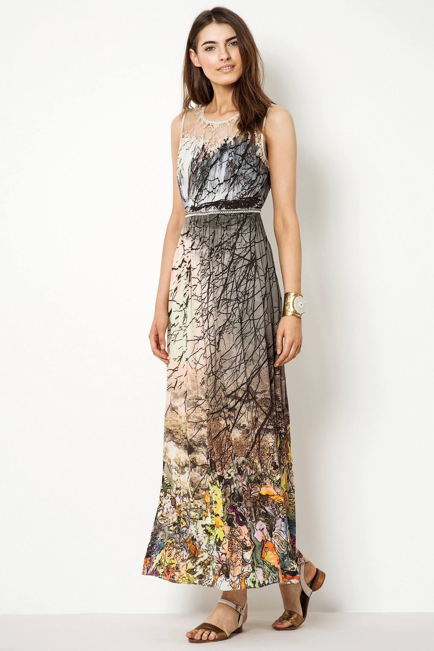 Coppice Flutter Maxi Dress - anthropologie.eu