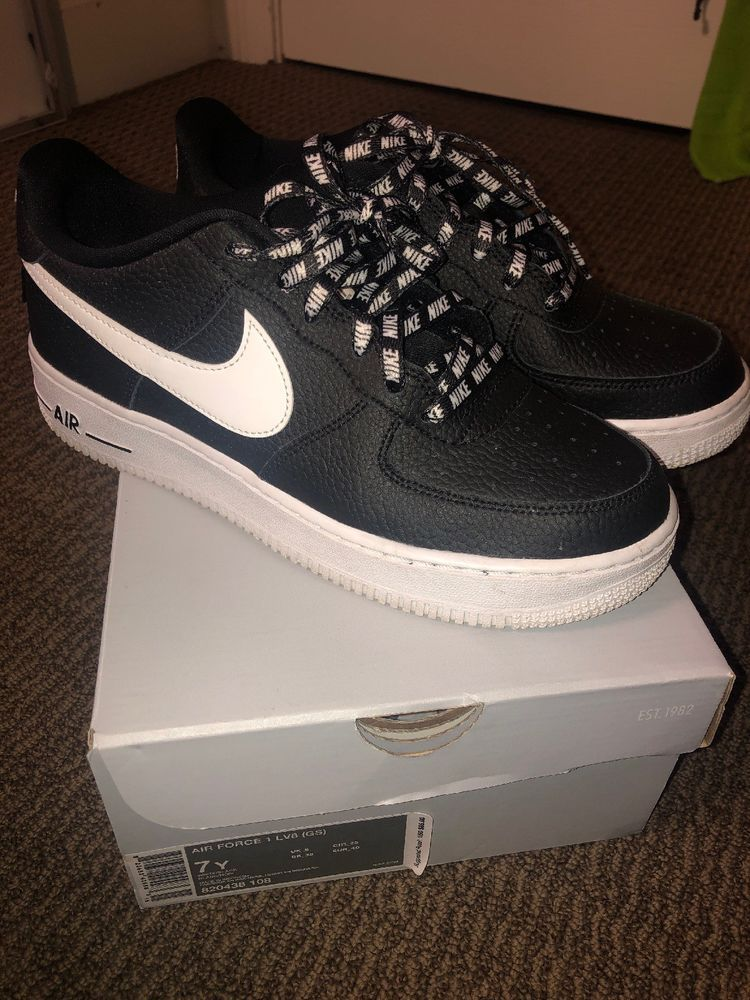 Black And White Nike Air Force 1 Size 7y  fashion  clothing  shoes   accessories  mensshoes  athleticshoes (ebay link) 89c7a9fc3