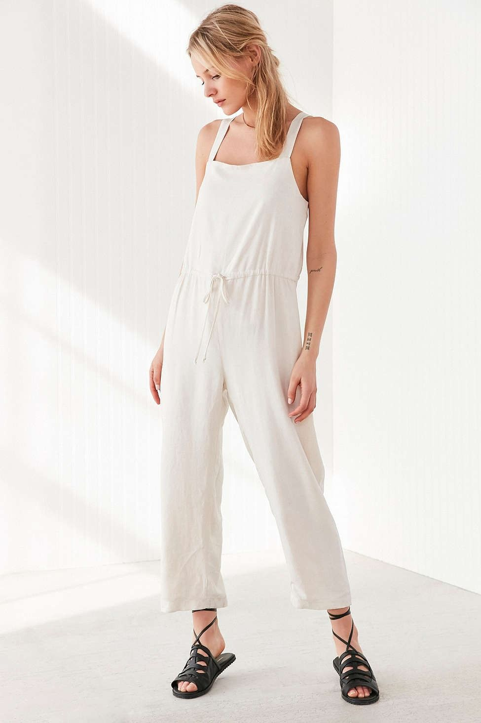 2810ced34e Silence + Noise Square Neck Linen Jumpsuit - Urban Outfitters