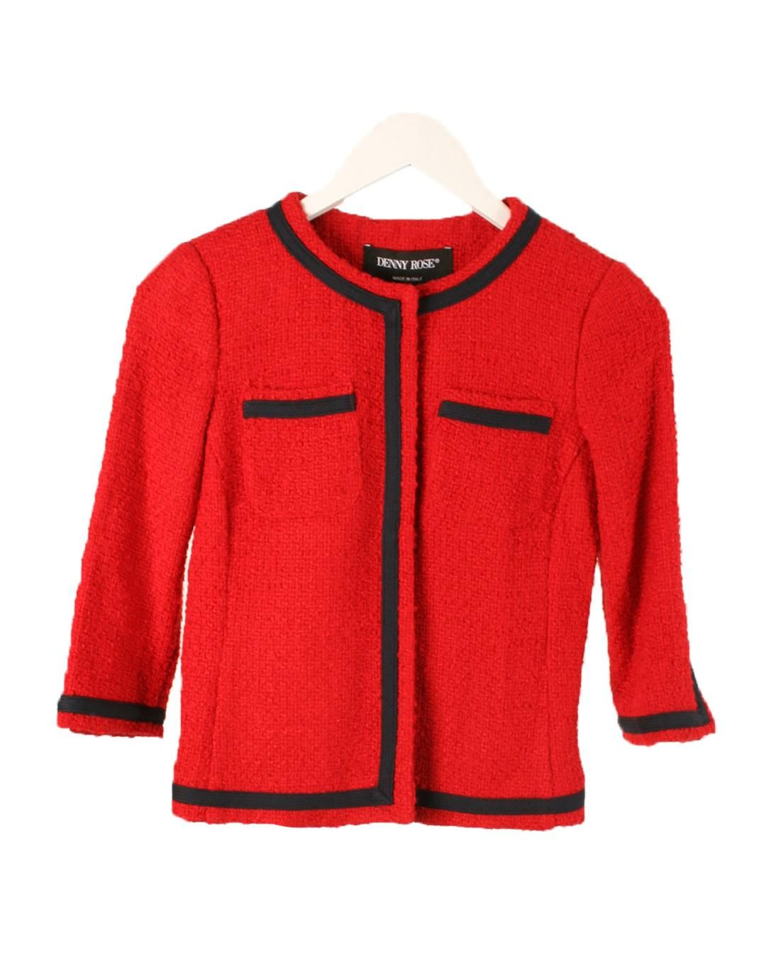 Fever Tweed Roja Chaqueta Denny Rose Red Iciqz Y 5tx76qpw