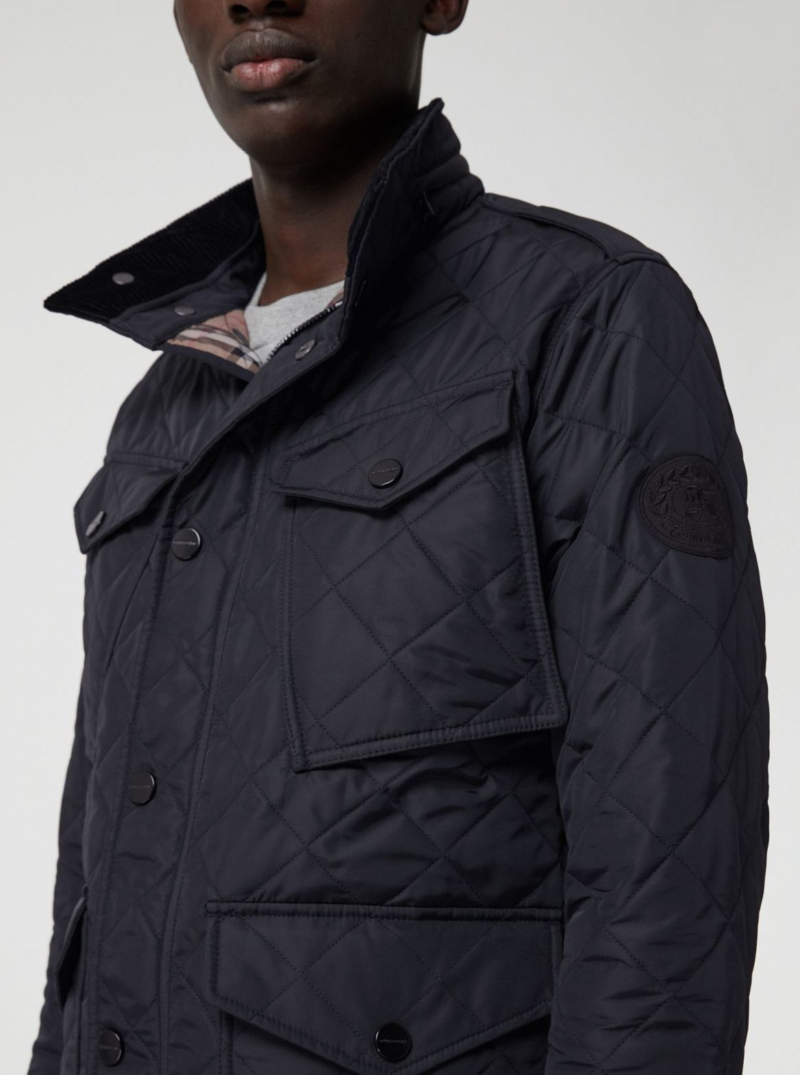 a56c94b86dc A classic quilted field jacket in water-resistant nylon twill ...