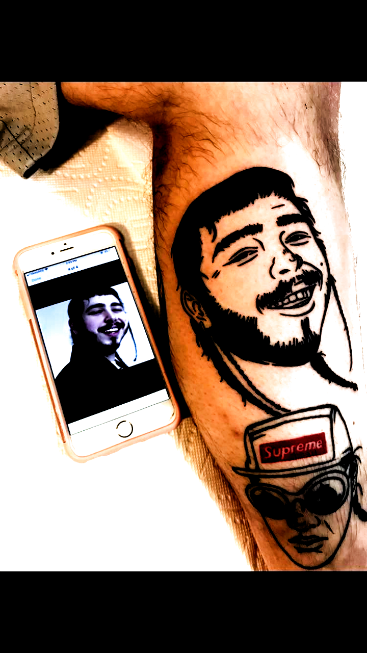 infected tattoo infected tattoo Post Malone first tattoo