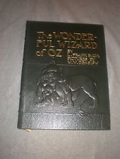 The Wonderful Wizard of Oz book, Leather, Easton Press, by Baum pictures Denslow