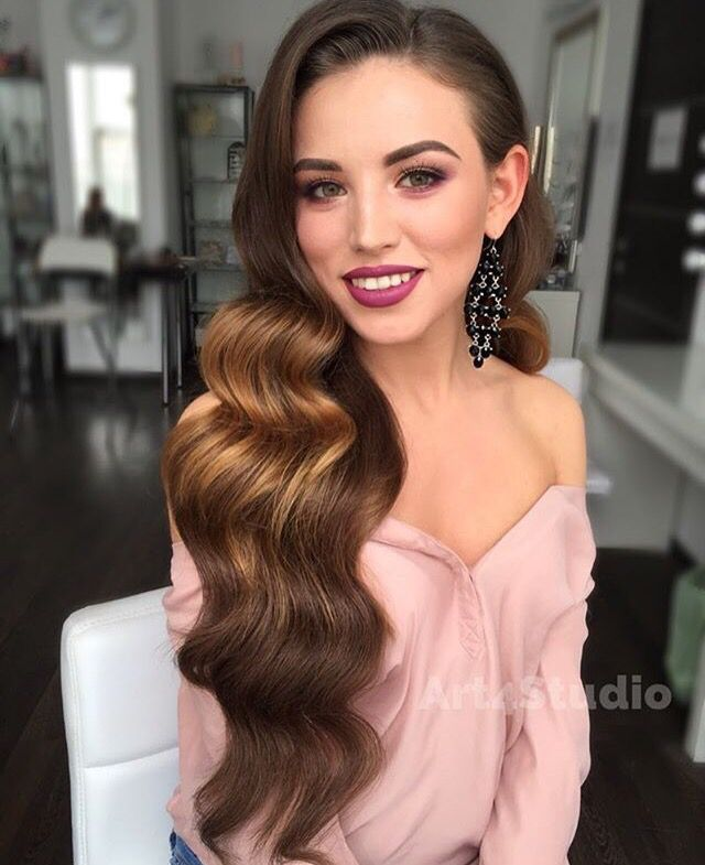 Vintage Waves Hairstyle Pinterest Prom Hair Hair Styles And
