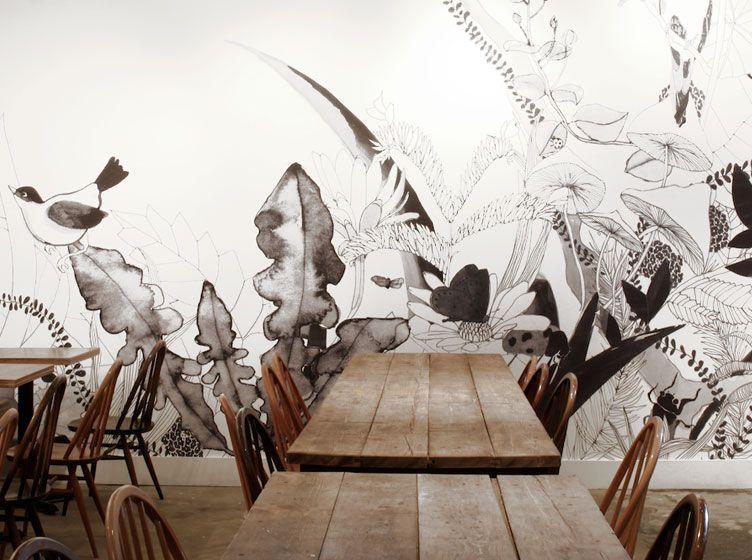 Melbourne Studio Ortolan Salvation Jane Wall Mural рестораны