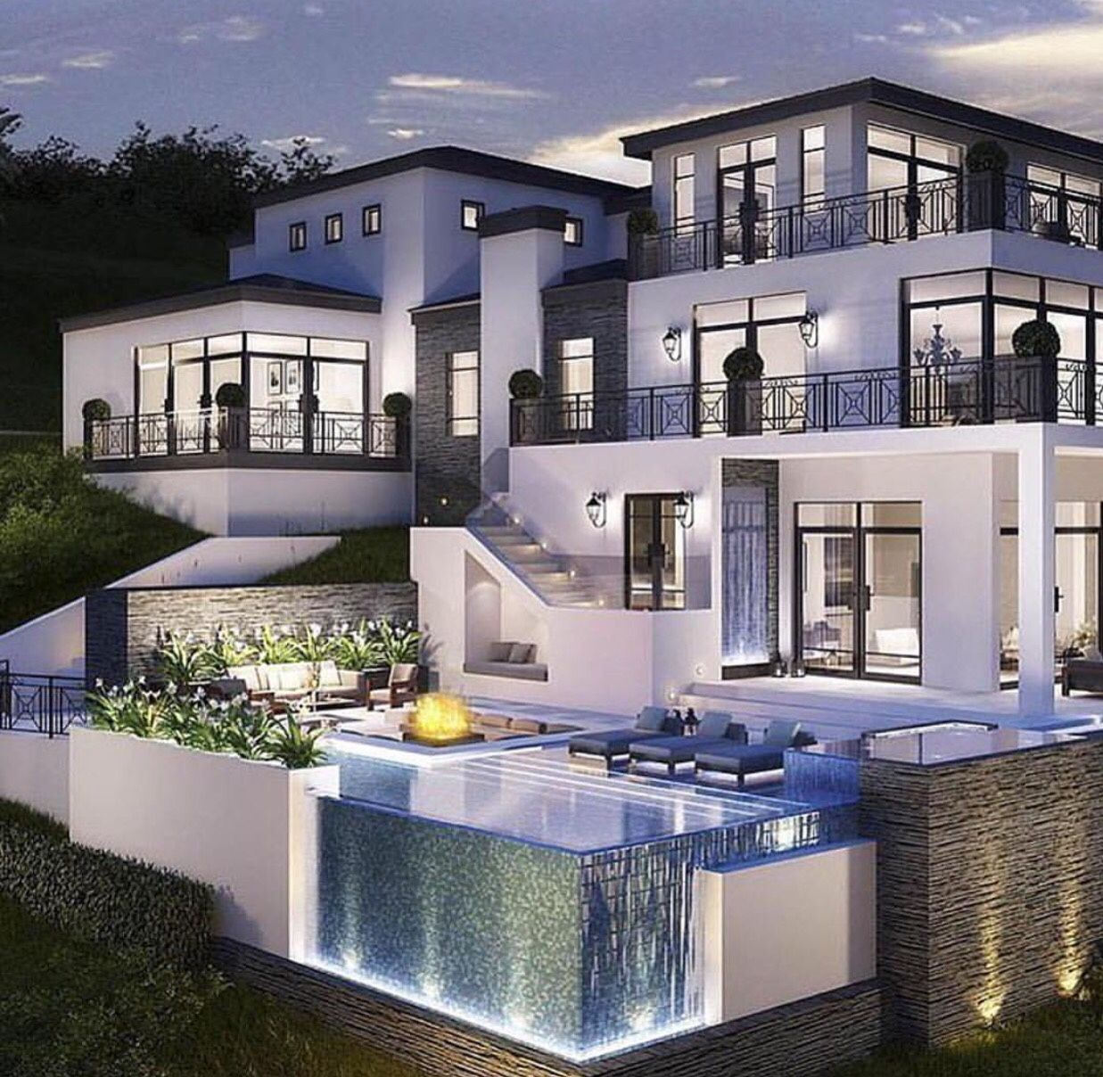 Bloxburg Mansion Modern House with Pool