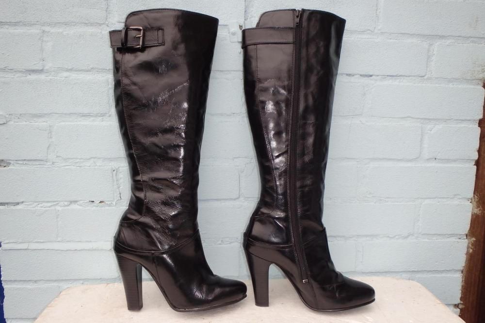 ~ HOBBS LEATHER BOOTS ~ Ladies Size 3.5 36.5 ~ SEXY BLACK SUEDE LEATHER BOOTS
