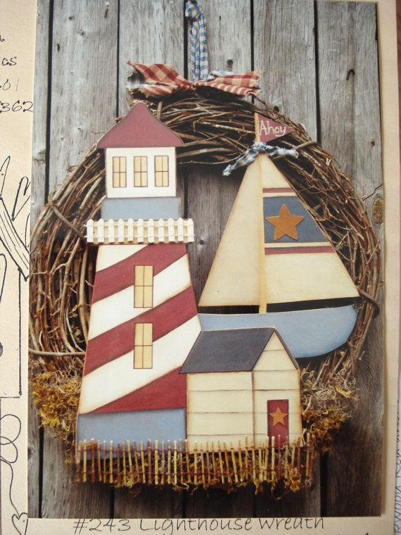 pattern packet lighthouse wreath by heart n home