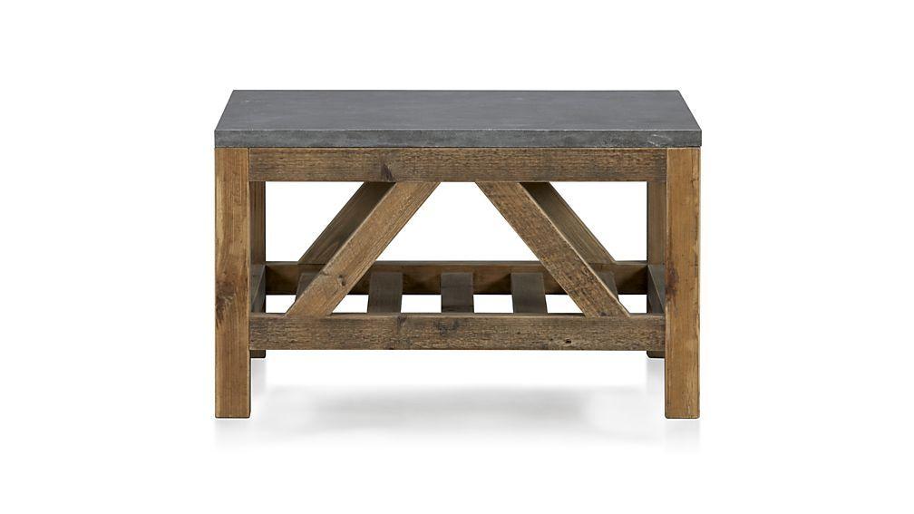 Bluestone Square Coffee Table Coffee Table Crate Barrel