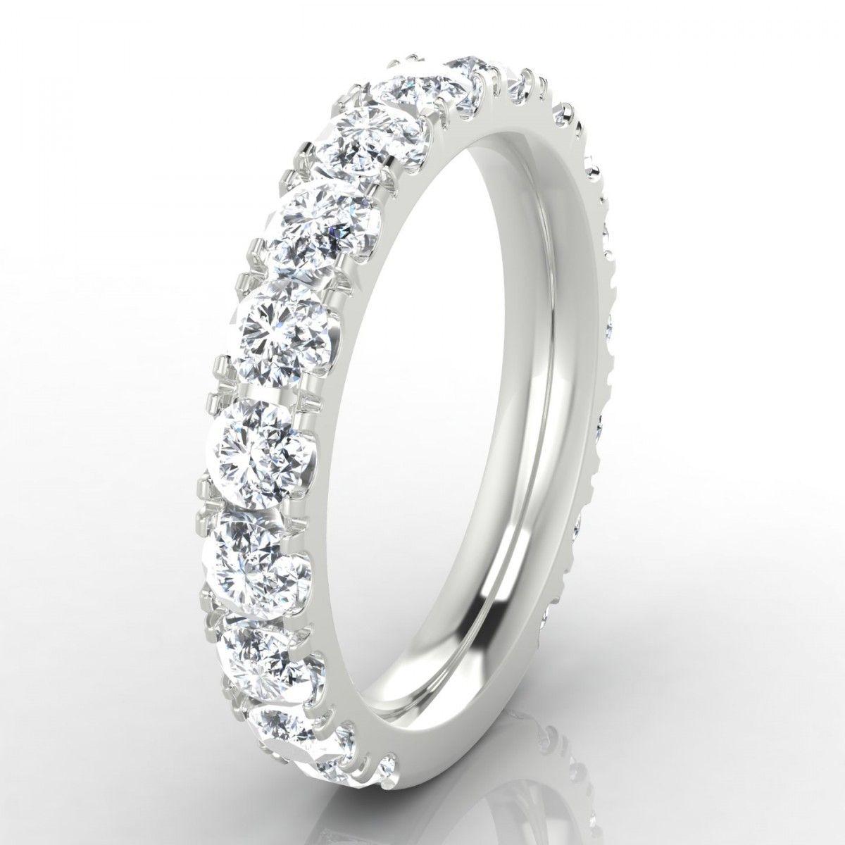 Mariée Alliance Diamant En Or Blanc Alliance Diamant