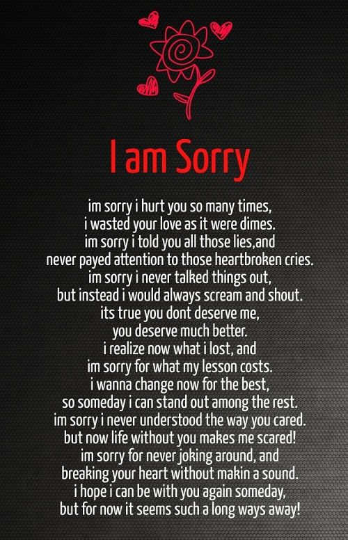 I Am Sorry Love Quotes For Her …