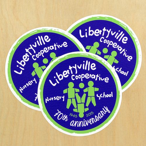 Libertyville Co Op Nursery School Custom Circle Stickers