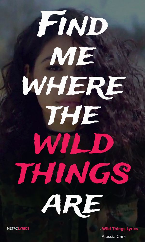 Alessia Cara Wild Things Lyrics And Quotes Find Me Where The Wild Things Are Wild Things Lyrics Alessia Cara Alessia Cara Lyrics