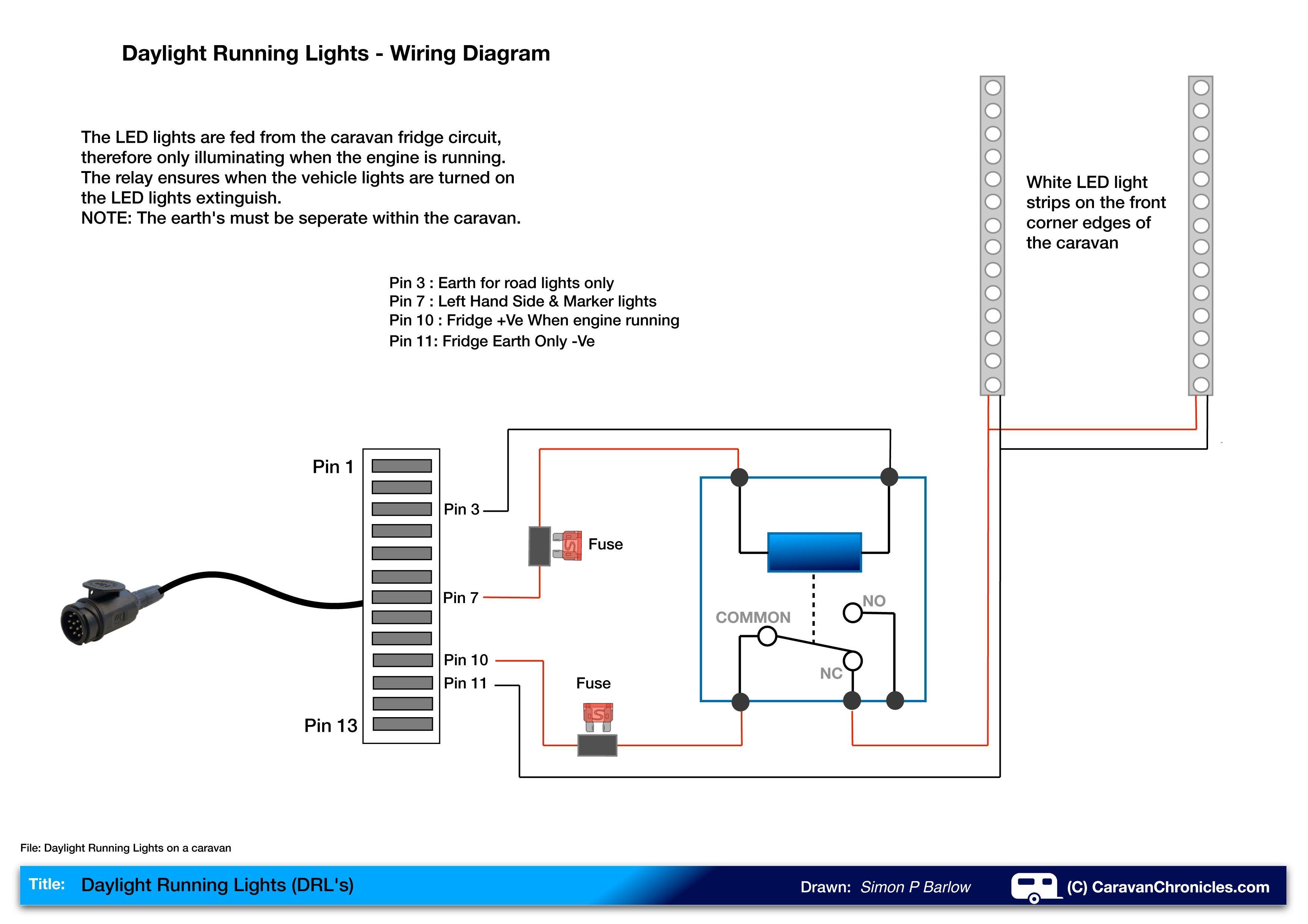 New Trailer Wiring Diagram Running Lights diagram
