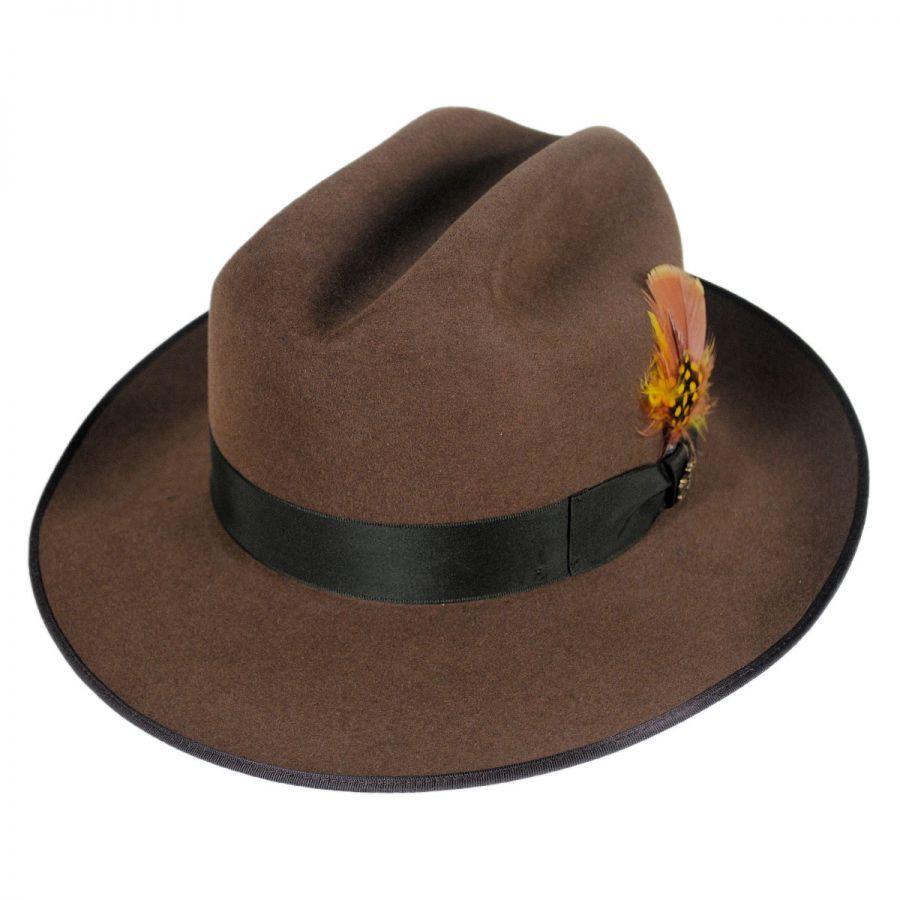 bdb8a18d297a0 Biltmore Bastille Cattleman Crown Fur Felt Fedora Hat