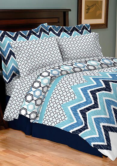 Delightful Home Accents® Lennox Turnstyle Reversible Bedding Ensemble