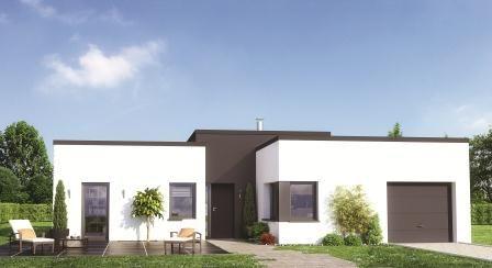 Mod les et plans de maisons mod le de plain pied lum na volumes d cal s constructions - Modele maison familiale ...