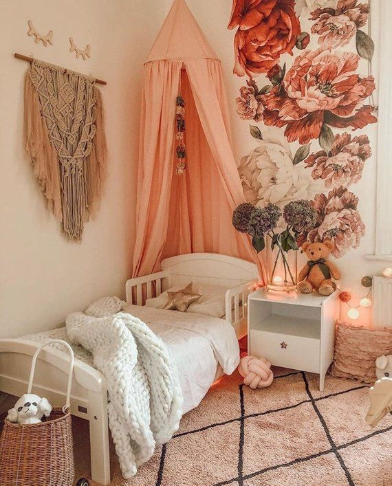 Wildflowers - Girls Nursery Decals - Baby Girls Decor - Baby Girls Room - Baby Pink - Nursery Wall Decals - Baby Cute - Decor Peony Peonies