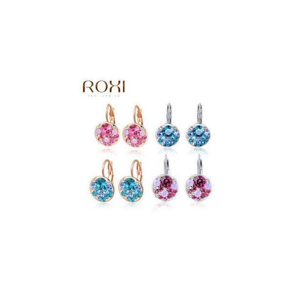 online store 8eee2 d47e9 Earrrings Para Mujeres de Calidad Superior de la Marca ROXI Rosa De Oro  Blanco Chapado En oro Stud Pendientes de La Manera Joyería de Año Nuevo  Navidad ...