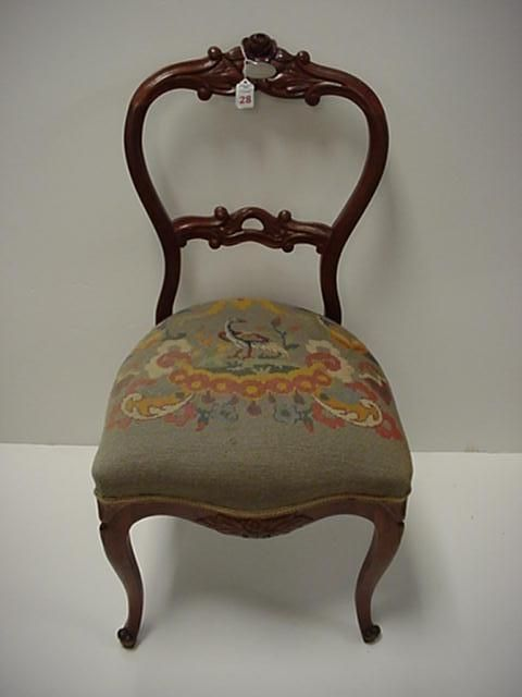 Image Detail For  Rose Carved Open Balloon Back Victorian Chair: : Lot 28