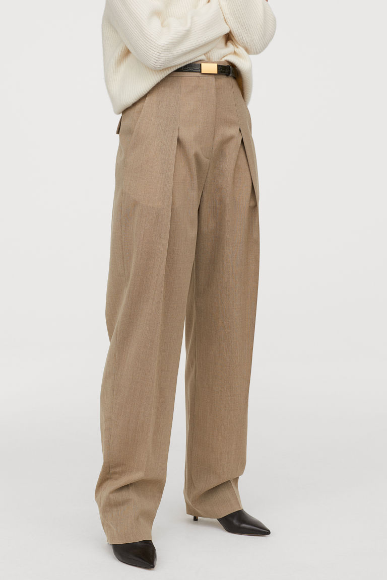 Photo of Wool-blend trousers – Mottled – Ladies | H&M DE