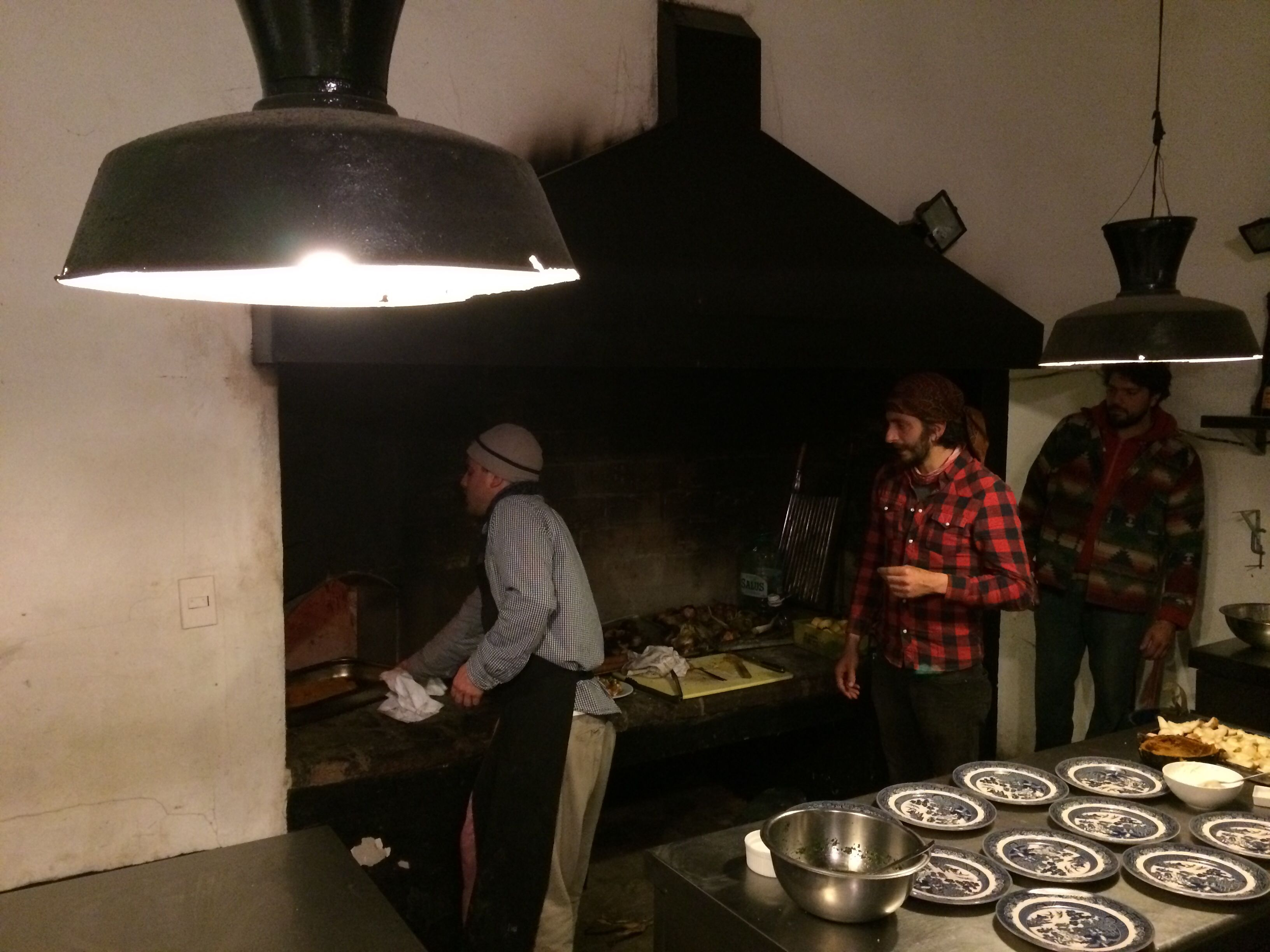Fire and oven inside Francis mallmann kitchen in Garzon