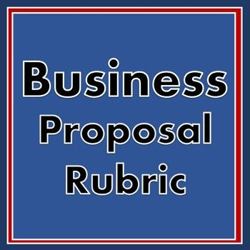 Business Proposal Rubric - Editable Rubric for Business Class or - writing business proposal