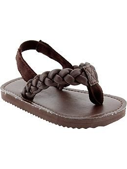 cd3e6e91b0f5 Braided-Thong Sandals for Baby