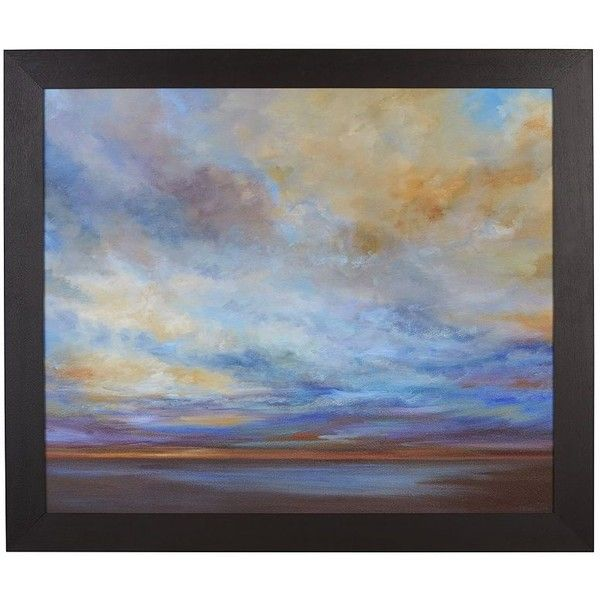 Crate & Barrel Coastal Clouds Print ($800) ❤ liked on Polyvore featuring home, home decor, wall art, backgrounds, art, decor, wallart, coastal home decor, coastal wall art and framed paintings