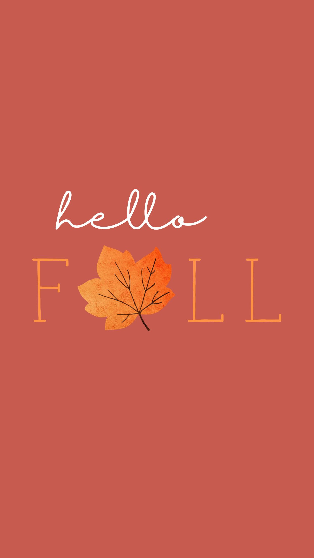 Hello Fall Phone Wallpaper Lynn Meadows Photography #phonebackgrounds